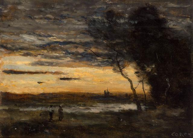 Jean-Baptiste-Camille Corot, 'Le Soir dans La Campagne au Bord de l'Eau', circa 1872, Doyle