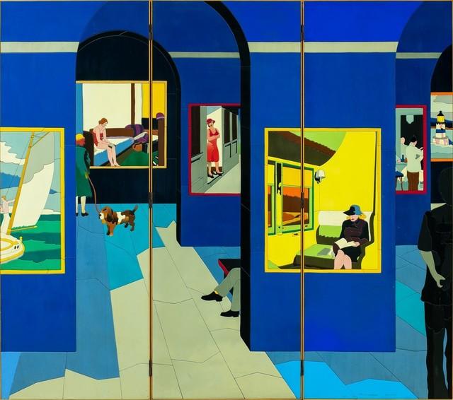 Ugo Nespolo, 'Al museo - pannello', Finarte