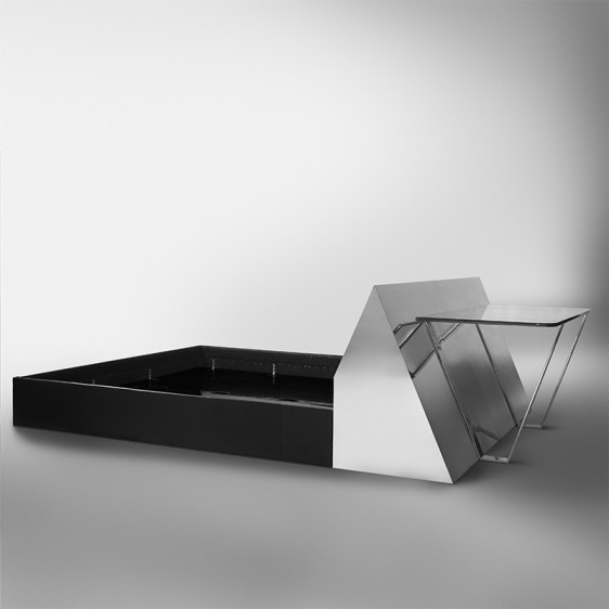 Paul Evans (1931-1987), ' Chrome-Mirrored Bed and Desk, USA', Design/Decorative Art, Todd Merrill Studio
