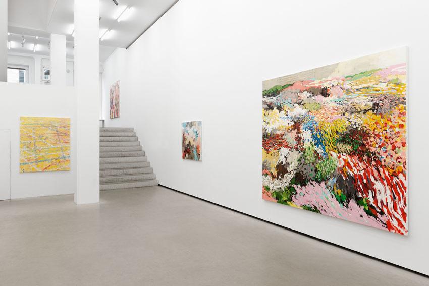 Uwe Kowski treiben  Installation view, 2015 Galerie EIGEN + ART Berlin Photo: Uwe Walter, Berlin