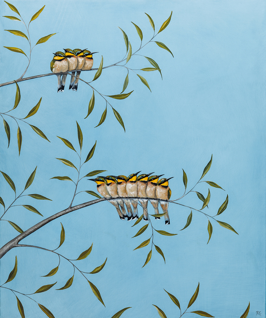 , 'A Colony of Bee-Eaters,' 2018, Jonathan Cooper
