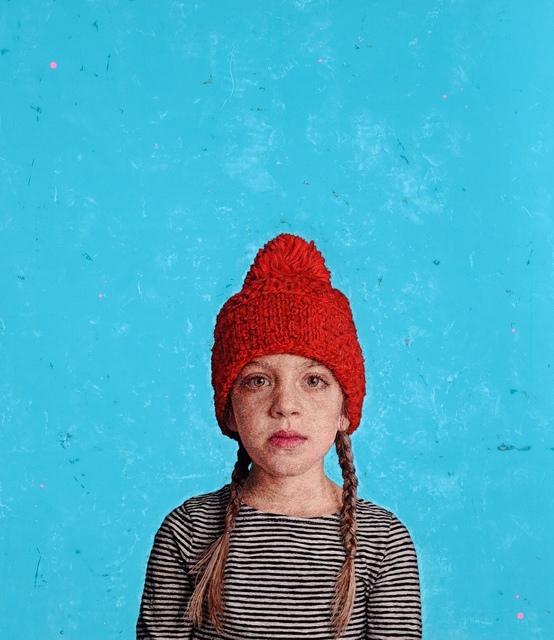, 'Annie in Her Mom's Winter Hat,' 2017, William Shearburn Gallery