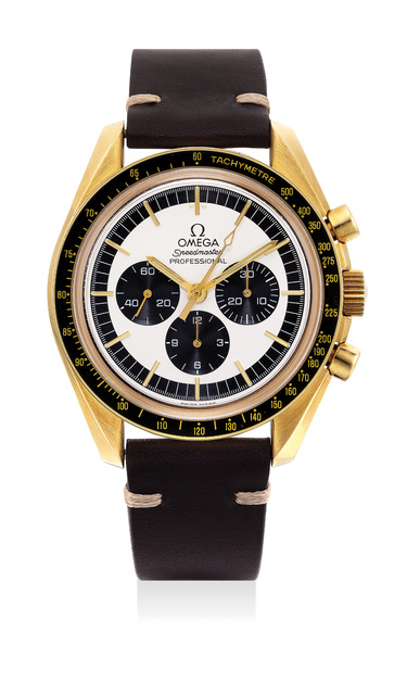 OMEGA, 'A very fine and rare yellow gold chronograph wristwatch, made for the Japanese market, numbered 35 of a limited edition of 40 pieces', 1997, Phillips