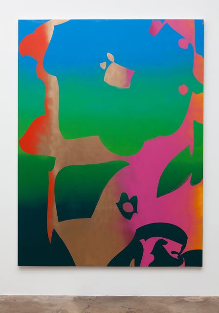 , 'Giant Flower (orange, pink, gold, green),' 2015, Erin Cluley Gallery