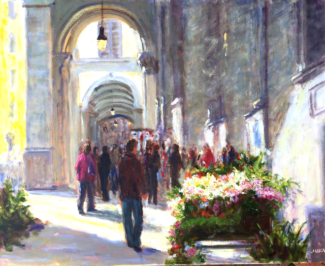 , 'Florence Flower Market,' , Beverly McNeil Gallery