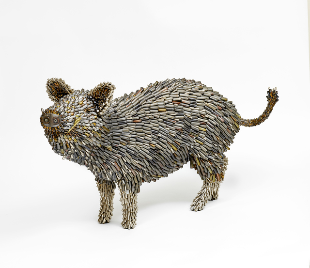 Federico Uribe, 'Warthog', 2017, Sculpture, Bullet shell sculpture, Adelson Galleries