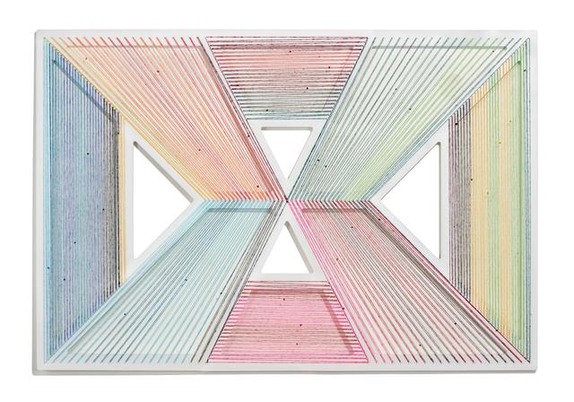 Adrian Esparza, 'Vanishing', 2020, Sculpture, Sarape, wood, nails, enamel, Cris Worley Fine Arts