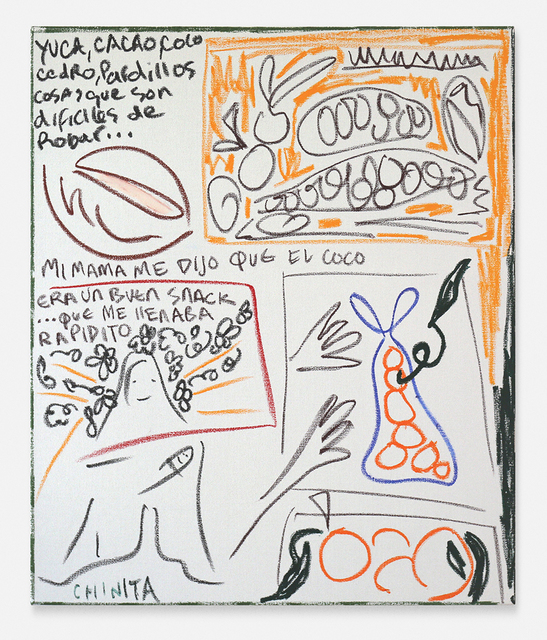 , 'Consejos, cosas que son difíciles de robar, y 'Chinita' (Nuestra Señora de Chiquinquirá) (Advice, things that are difficult to steal and 'Chinita' (Our Lady of Chiquinquirá),' 2019, Blackartprojects