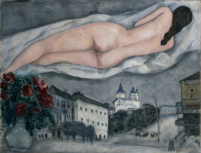 Marc Chagall, 'The Nude Above Vitebsk (Le nu au-dessus de Vitebsk)', 1933, Dallas Museum of Art