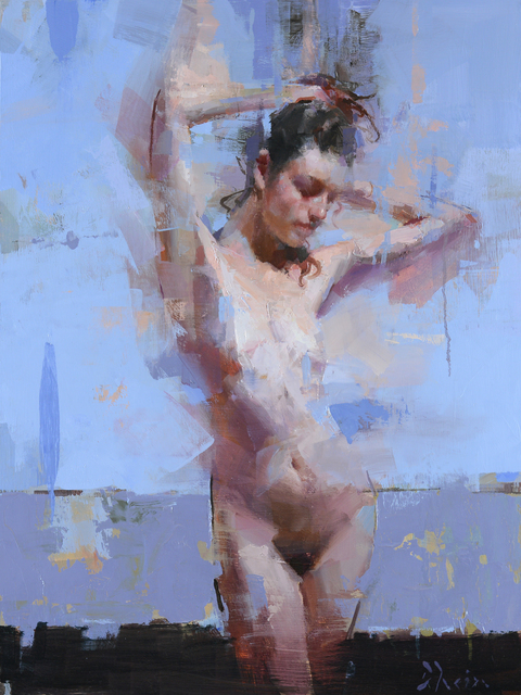 , 'Nude with Blue and Purple,' 2018, Abend Gallery