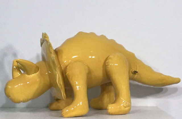 , 'Inflatable Triceratops Large  (Yellow),' 2016, Black Book Gallery