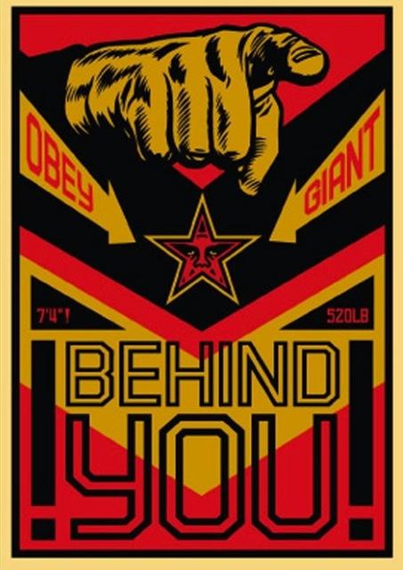 Shepard Fairey (OBEY), 'Behind You Large Format', 2009, Gregg Shienbaum Fine Art