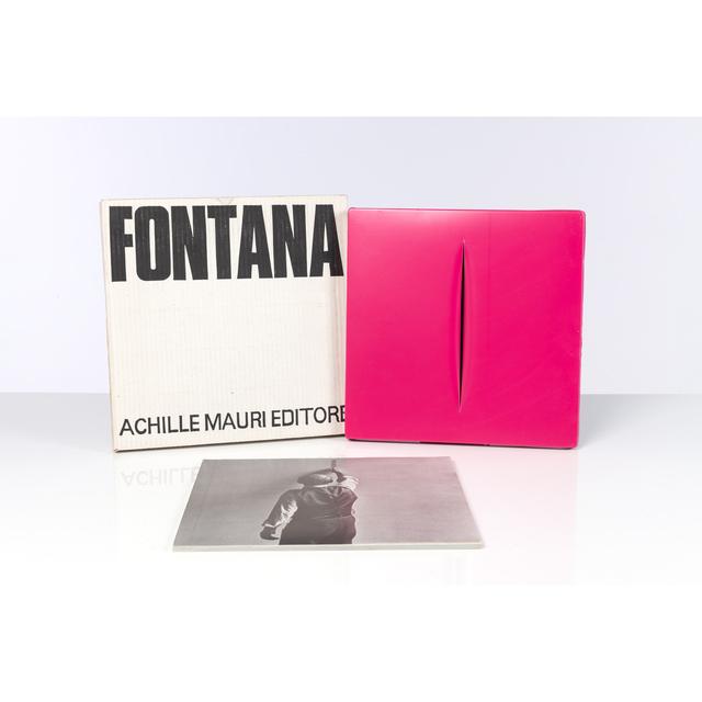 Lucio Fontana, 'Concetto Spaziale Rosso', 1968, PIASA