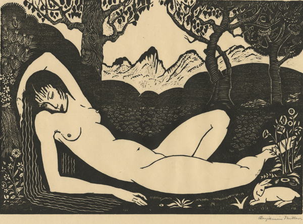 , 'Nude with Rabbit,' ca. 1920, Childs Gallery