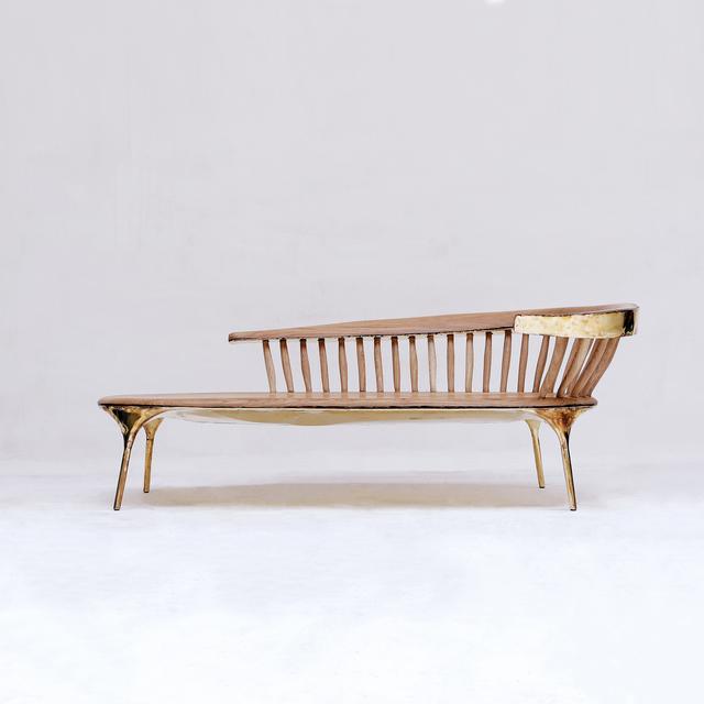 Valentin Loellmann, 'Brass Lounge Chair ', 2019, Twenty First Gallery