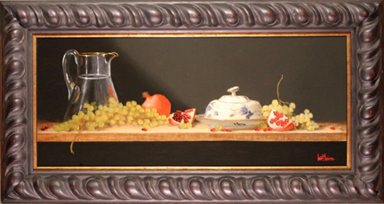, 'Virginia Butterdish, Pomegranates, and Green Grapes (dimensions are with frame),' , Zenith Gallery
