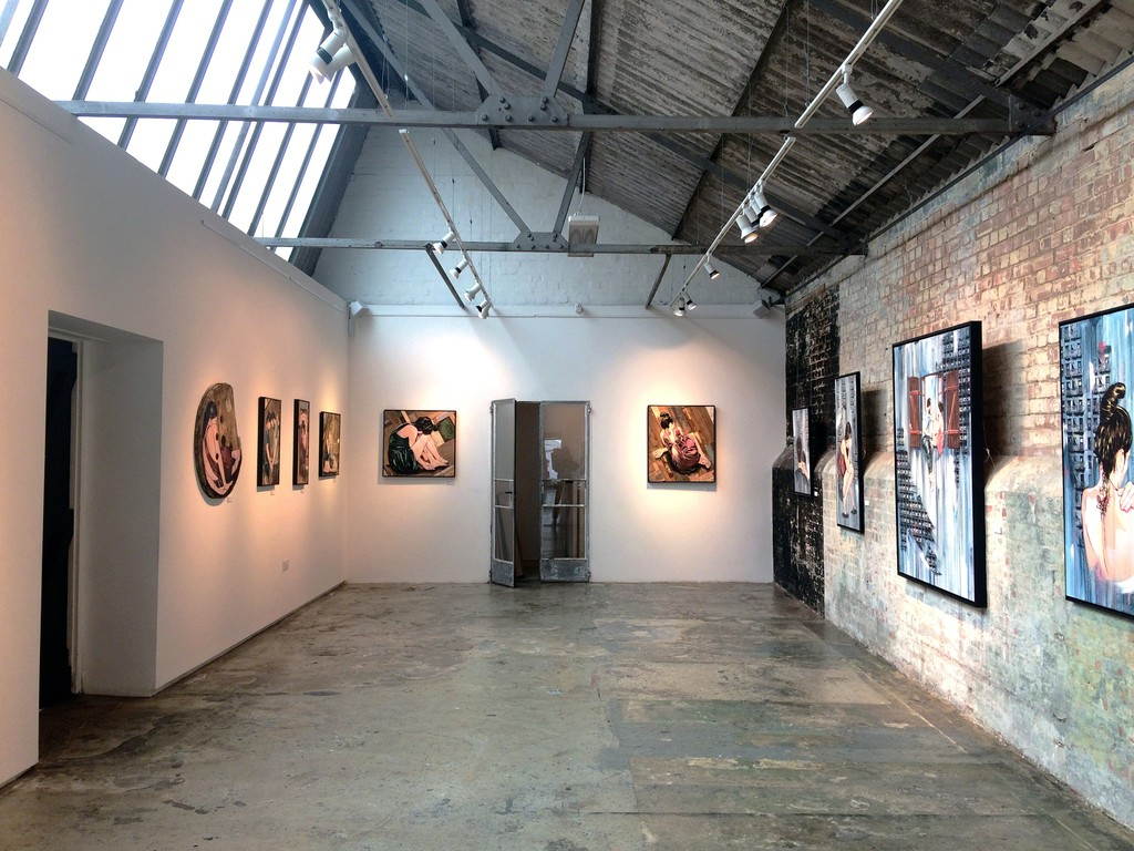 This is a full room shot showing a front perspective on all of the Jana & JJ's pieces standing along side each other.