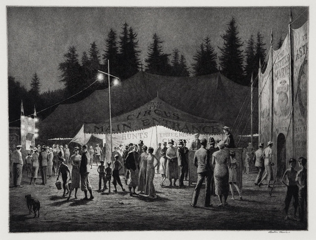 , 'Circus Night.,' 1933, The Old Print Shop, Inc.