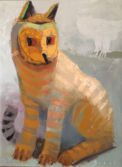 , 'Cat Masquerading as an Owl,' 2018, M.A. Doran Gallery