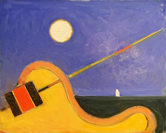 , 'Buoy, Moon, Boat,' 2017, Lawrence Fine Art