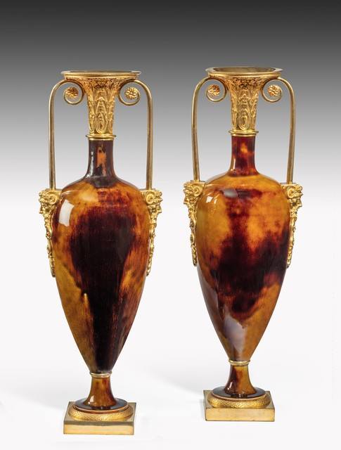 , 'Pair of Porcelain and Ormolu Urns ,' ca. 1805, Thomas Coulborn & Sons