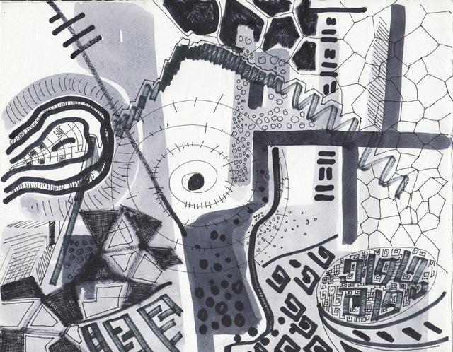 Patrick Tagoe-Turkson, 'Kwasia Agor (Fools Game)', ca. 2010, Print, Canvas, Nubuke Foundation (Ghana)