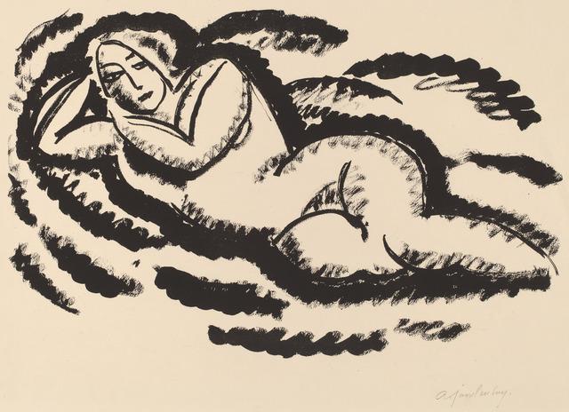 Alexej von Jawlensky, 'Reclining Nude', ca. 1912, National Gallery of Art, Washington, D.C.
