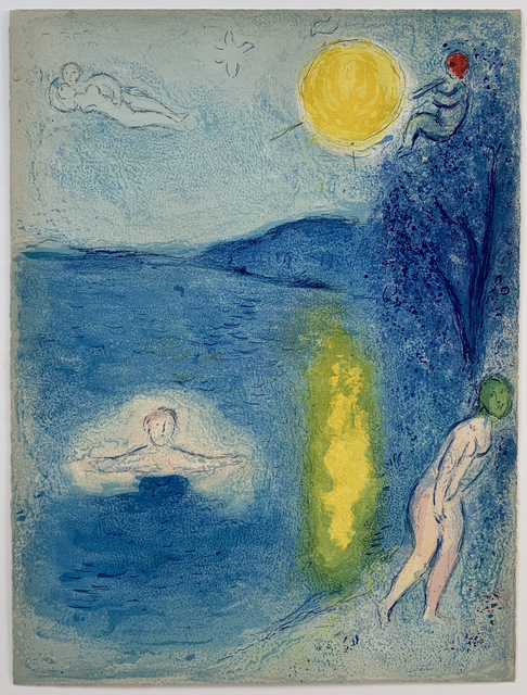 Marc Chagall, 'The Summer Season', 1961, Print, Original lithograph in colors, Galerie Fetzer