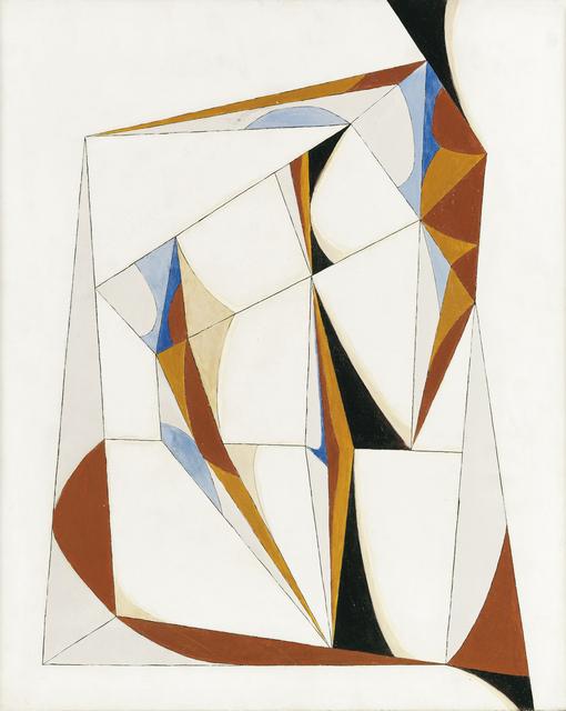 Paul Kallos, 'Abstract Composition', 1950, Painting, Oil on wood, Kalman Maklary Fine Arts