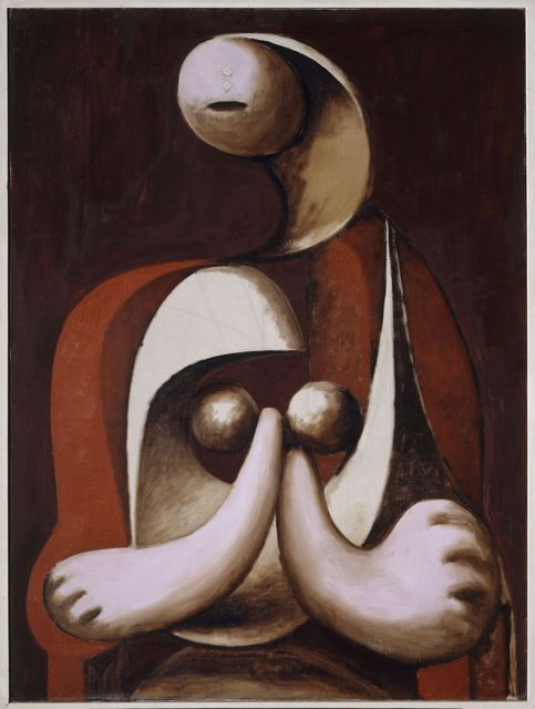 , 'Femme assise dans un fauteuil rouge (Woman Seated in a Red Armchair),' 1932, Musée Picasso Paris