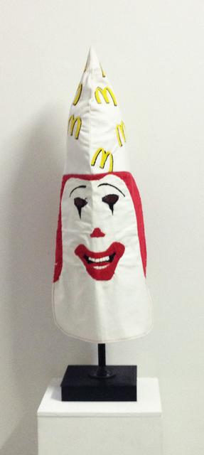, 'Ronald McDonald KKK hood,' 2011, envoy enterprises