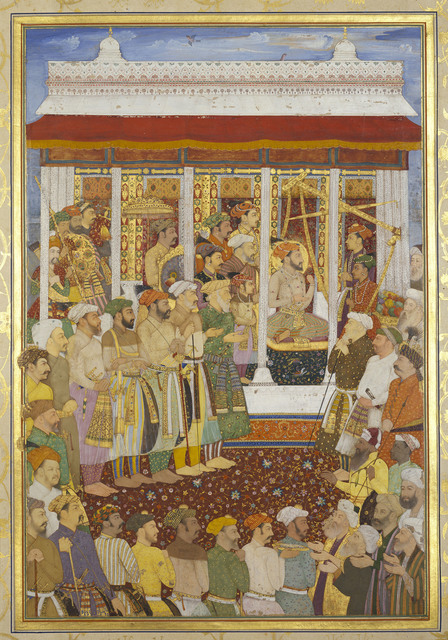 , 'The Weighing of Shah-Jahan on his 42nd lunar birthday (23 October 1632),' 1656-1657, Royal Collection Trust