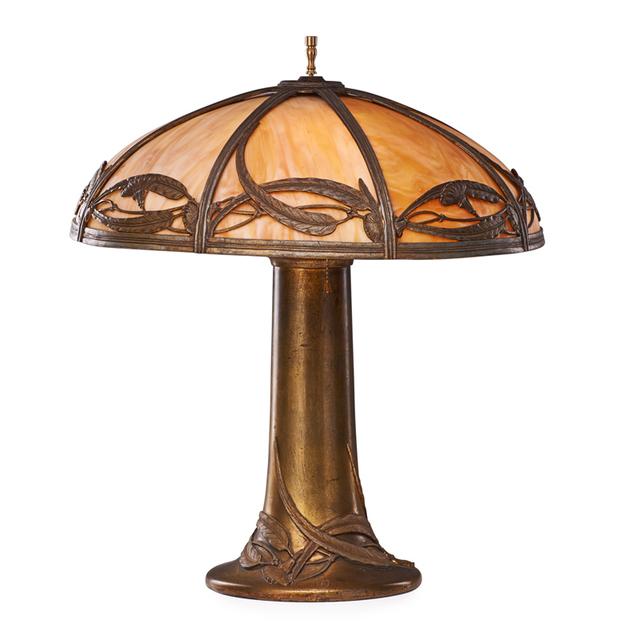 Bradley & Hubbard, 'Table Lamp With Eucalyptus, Meriden, CT', Early 20th C., Rago/Wright