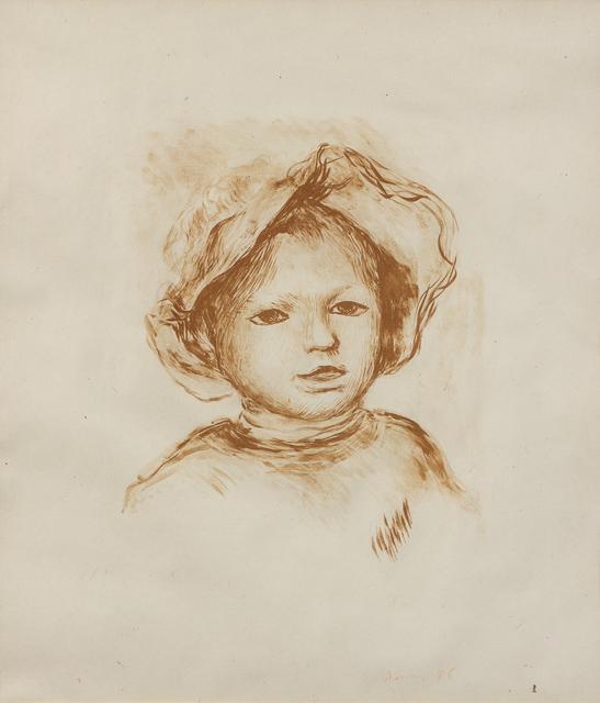 Pierre-Auguste Renoir, 'Pierre Renoir, de face from L'Estampe Originale', c. 1893, Hindman