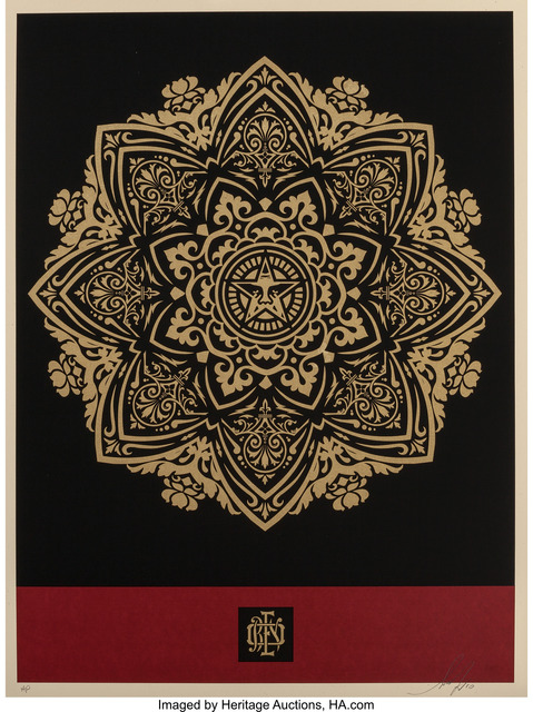 Shepard Fairey (OBEY), 'Mandala Ornament (Red/Gold)', 2010, Heritage Auctions