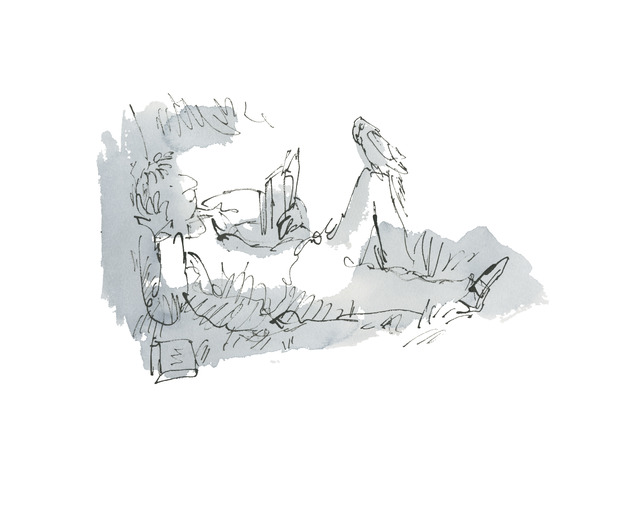 Quentin Blake, 'An Anthology of Readers, Dedicated Readers #12', 2019, Shapero Modern