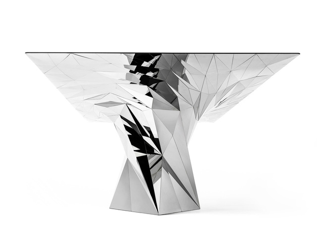 Zhoujie Zhang, 'Tornado (SQN7-T) Stainless Steel Table', 2011, Gallery ALL