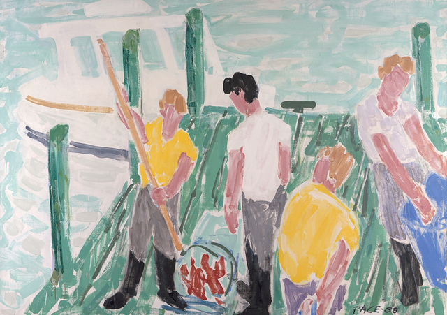 , 'Unloading at Duryeea's Pier #2,' 1988, Dowling Walsh
