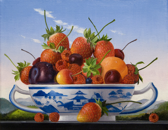 James Aponovich, 'Mixed Fruits with Canton Bowl', 2013, Painting, Oil on canvas, Clark Gallery