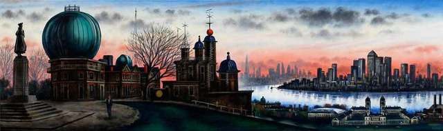 , 'London Panorama - Greenwich Observatory Dusk,' 2018, Catto Gallery