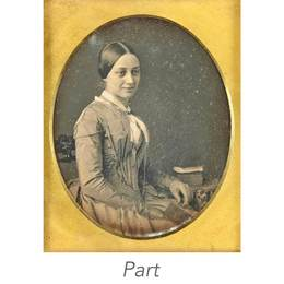 Two sixth-plate portrait daguerreotypes, both signed.