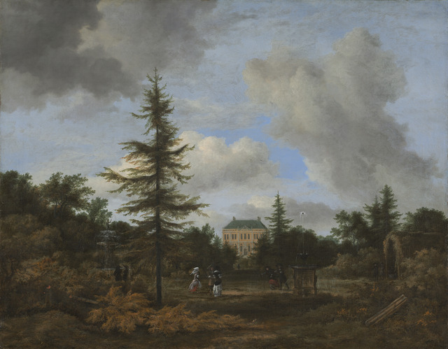 Jacob van Ruisdael, 'Country House in a Park', ca. 1675, National Gallery of Art, Washington, D.C.
