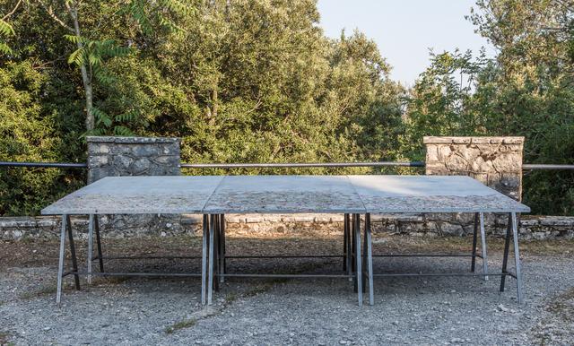 , 'Un petalo viola su un pavimento di cemento ,' 2015, Magazzino