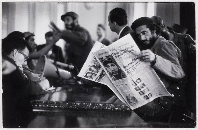 , 'Fidel Castro giving press conference after arriving at outskirts of Havana,' 1958, Monroe Gallery of Photography