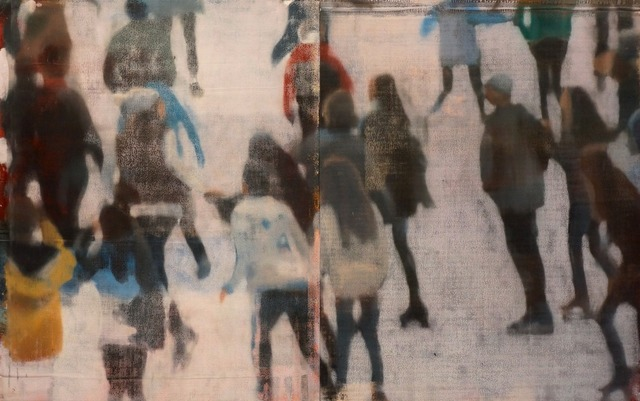 , 'Small Crowd On Ice,' 2016, Julie Nester Gallery