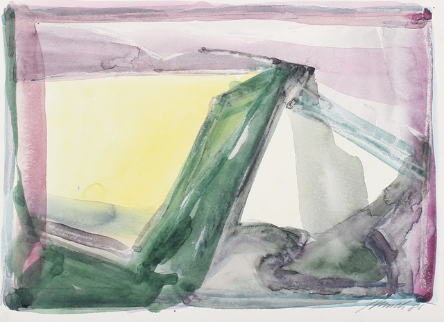 Dieter Appelt, 'Für Klaus Reichert', 1985, Drawing, Collage or other Work on Paper, Watercolours on thick paper., Galerie aKonzept