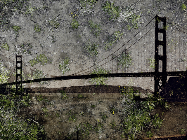 , 'Tent Camera Image On Ground: View Of The Golden Gate Bridge From Battery Yates,' 2012, Edwynn Houk Gallery