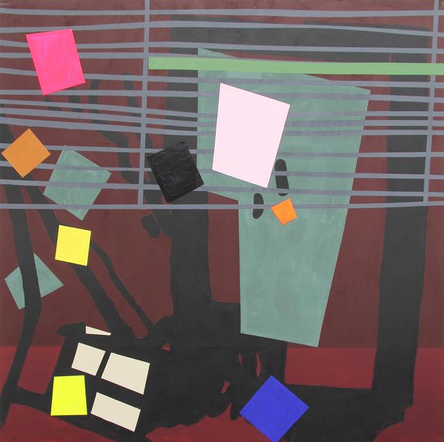 , 'Shade Painting: Burgundy,' 2016, Bernard Jacobson Gallery