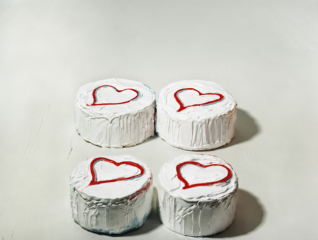 ", 'Four Heart Cakes, from the series ""Thiebauds"",' 2004, Yancey Richardson Gallery"