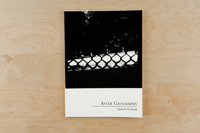 , 'After Geography,' 2014, Zatara Press
